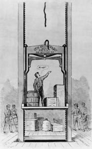 Sketch Of Elevator Inventor Testing Elevator